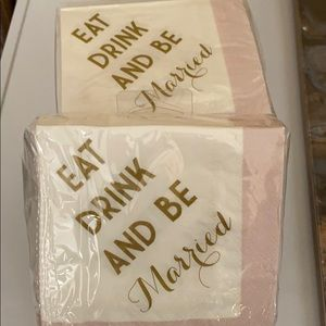 Napkins for wedding or anniversary